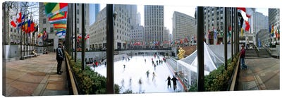 360 degree view of a city, Rockefeller Center, Manhattan, New York City, New York State, USA Canvas Art Print