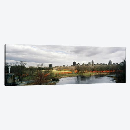 Gates in a park, The Gates, Central Park, Manhattan, New York City, New York State, USA Canvas Print #PIM8112} by Panoramic Images Art Print