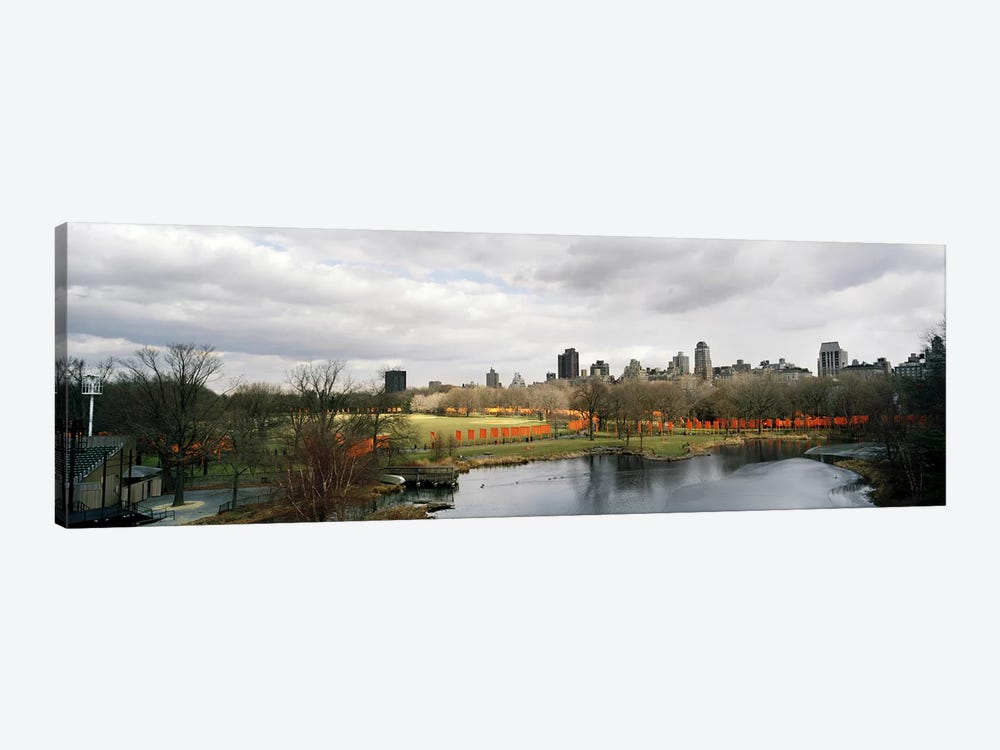 Gates in a park, The Gates, Central Park, Manhattan, New York City, New York State, USA by Panoramic Images 1-piece Art Print