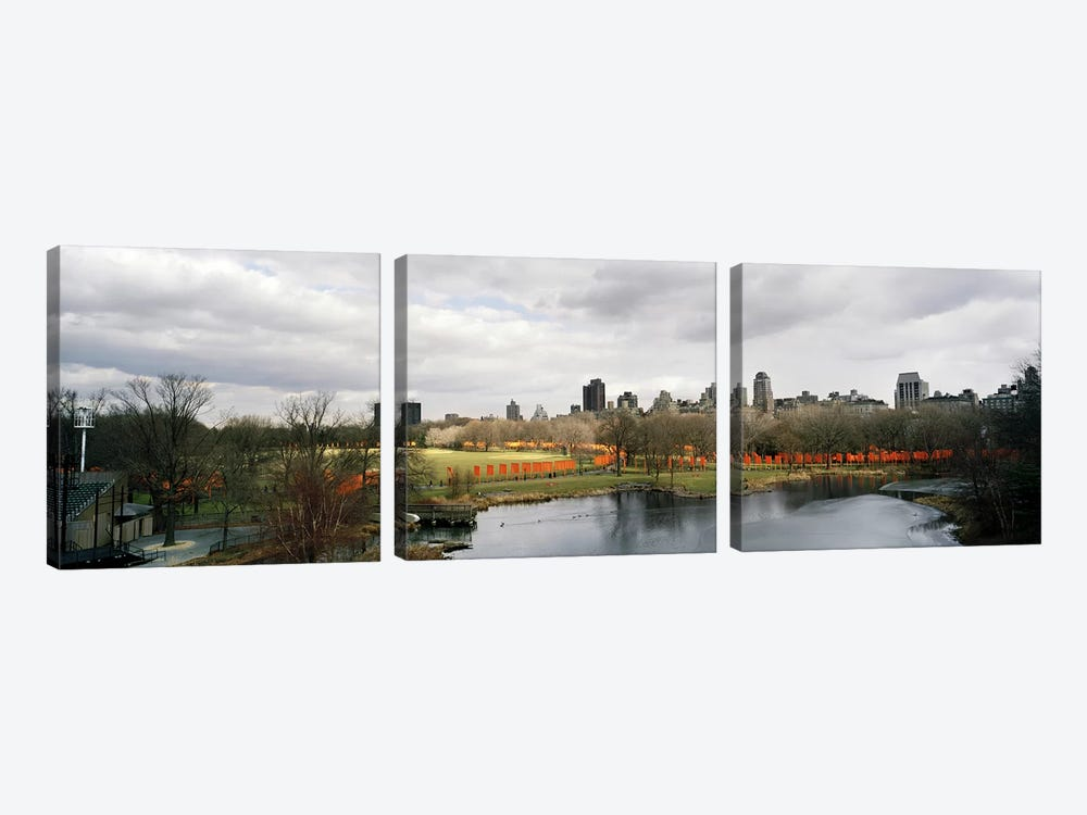Gates in a park, The Gates, Central Park, Manhattan, New York City, New York State, USA by Panoramic Images 3-piece Art Print