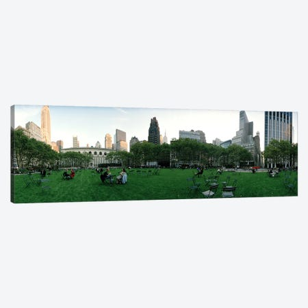 360 degree view of a public park, Bryant Park, Manhattan, New York City, New York State, USA Canvas Print #PIM8116} by Panoramic Images Canvas Artwork