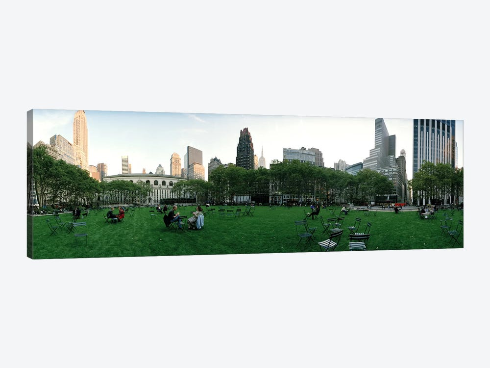360 degree view of a public park, Bryant Park, Manhattan, New York City, New York State, USA by Panoramic Images 1-piece Art Print