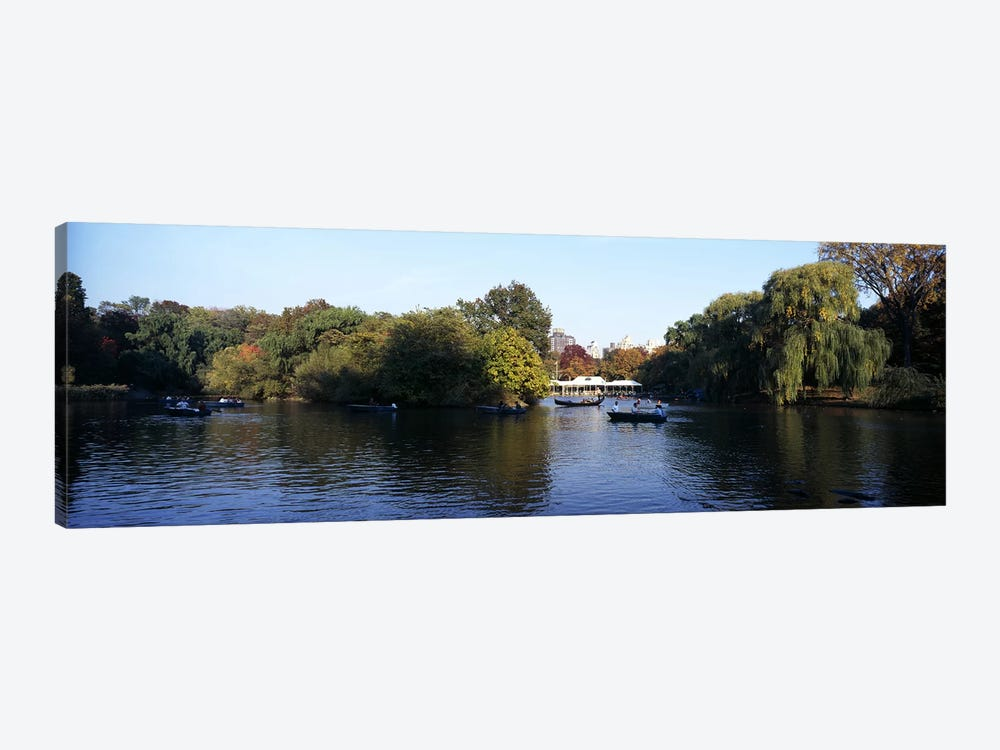 Lake in a park, Central Park, Manhattan, New York City, New York State, USA by Panoramic Images 1-piece Canvas Art