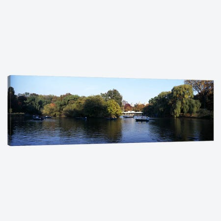 Lake in a park, Central Park, Manhattan, New York City, New York State, USA Canvas Print #PIM8117} by Panoramic Images Canvas Wall Art