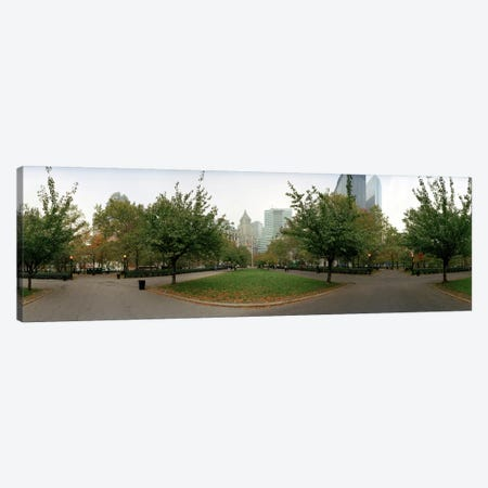 360 degree view of a public park, Battery Park, Manhattan, New York City, New York State, USA Canvas Print #PIM8119} by Panoramic Images Art Print