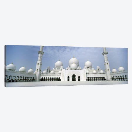 Low angle view of a mosque, Sheikh Zayed Mosque, Abu Dhabi, United Arab Emirates Canvas Print #PIM8120} by Panoramic Images Canvas Wall Art