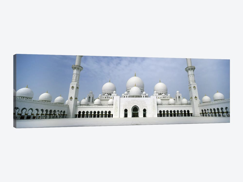 Low angle view of a mosque, Sheikh Zayed Mosque, Abu Dhabi, United Arab Emirates by Panoramic Images 1-piece Canvas Art