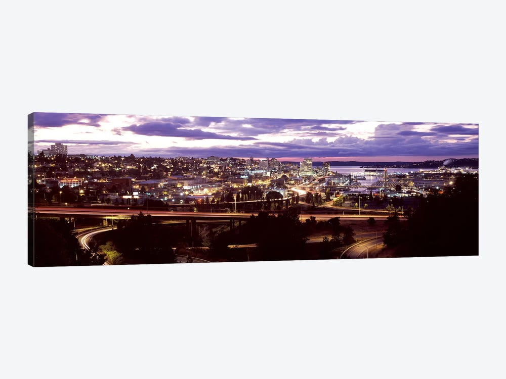 Aerial view of a city, Tacoma, Pierce County, Washington State, USA 2010 by Panoramic Images 1-piece Canvas Wall Art