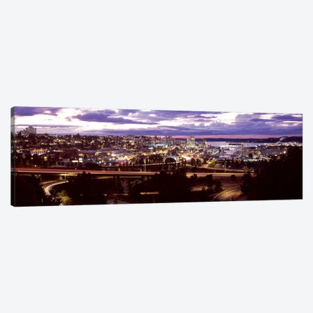 Aerial view of a city, Tacoma, Pierce County, Washington State, USA 2010 Canvas Print #PIM8126} by Panoramic Images Art Print
