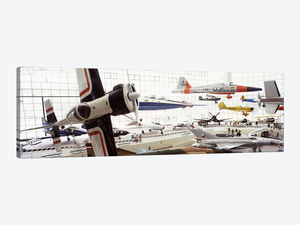 Interiors of a museum, Museum of Flight, Seattle, Washington State, USA by Panoramic Images 1-piece Canvas Artwork