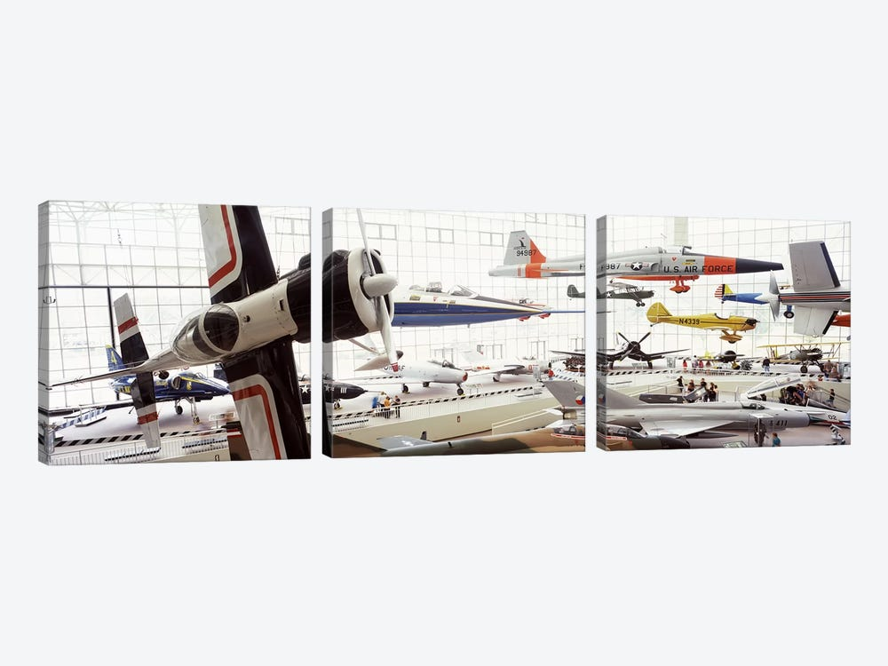 Interiors of a museum, Museum of Flight, Seattle, Washington State, USA by Panoramic Images 3-piece Canvas Art