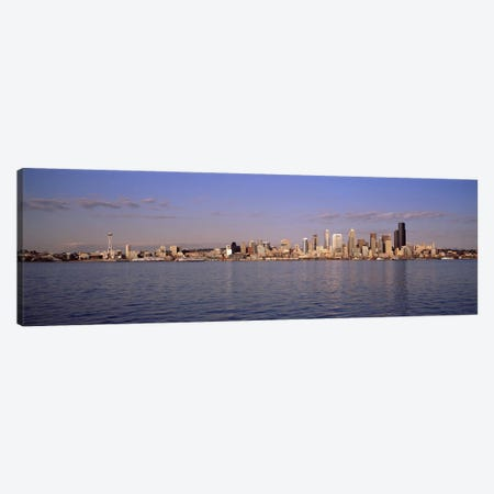 City viewed from Alki Beach, Seattle, King County, Washington State, USA 2010 Canvas Print #PIM8143} by Panoramic Images Canvas Artwork