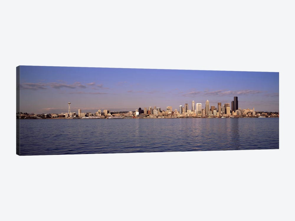City viewed from Alki Beach, Seattle, King County, Washington State, USA 2010 by Panoramic Images 1-piece Art Print