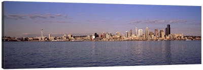 City viewed from Alki Beach, Seattle, King County, Washington State, USA 2010 Canvas Art Print