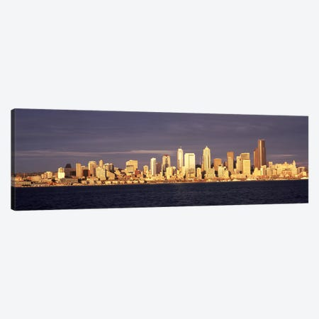 City viewed from Alki Beach, Seattle, King County, Washington State, USA 2010 #2 Canvas Print #PIM8144} by Panoramic Images Canvas Print