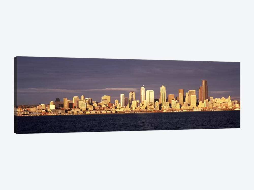 City viewed from Alki Beach, Seattle, King County, Washington State, USA 2010 #2 by Panoramic Images 1-piece Canvas Artwork