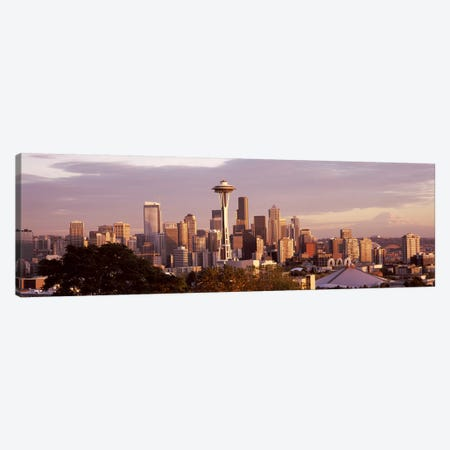 City viewed from Queen Anne HillSpace Needle, Seattle, King County, Washington State, USA Canvas Print #PIM8146} by Panoramic Images Art Print