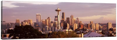 City viewed from Queen Anne HillSpace Needle, Seattle, King County, Washington State, USA Canvas Print #PIM8146