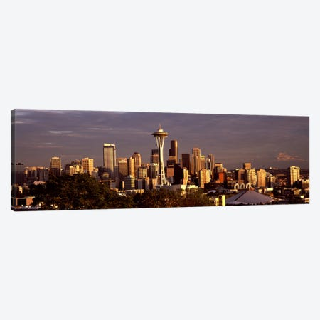 City viewed from Queen Anne Hill, Space Needle, Seattle, King County, Washington State, USA 2010 #2 Canvas Print #PIM8147} by Panoramic Images Canvas Art Print