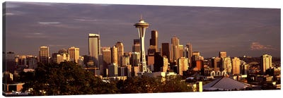 City viewed from Queen Anne Hill, Space Needle, Seattle, King County, Washington State, USA 2010 #2 Canvas Print #PIM8147