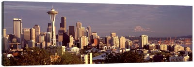 City viewed from Queen Anne Hill, Space Needle, Seattle, King County, Washington State, USA 2010 #3 Canvas Art Print