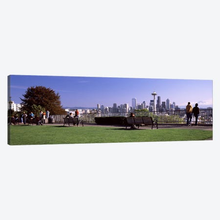 City viewed from Queen Anne Hill, Space Needle, Seattle, King County, Washington State, USA 2010 #4 Canvas Print #PIM8149} by Panoramic Images Canvas Art