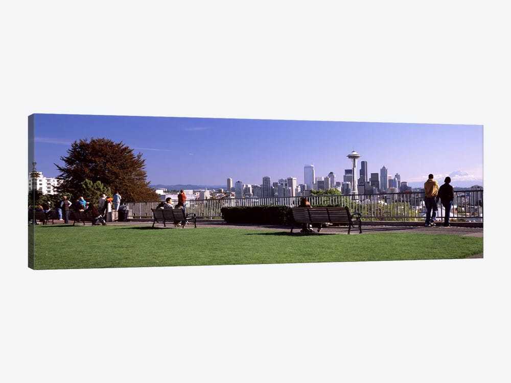 City viewed from Queen Anne Hill, Space Needle, Seattle, King County, Washington State, USA 2010 #4 by Panoramic Images 1-piece Canvas Art Print