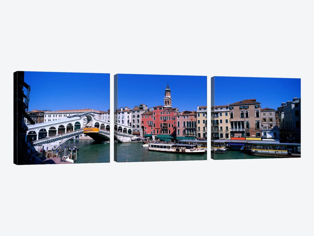 Ponte di Rialto Venice Italy by Panoramic Images 3-piece Canvas Artwork