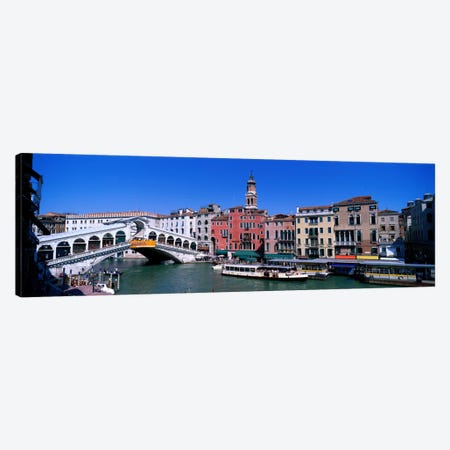 Ponte di Rialto Venice Italy Canvas Print #PIM814} by Panoramic Images Canvas Wall Art
