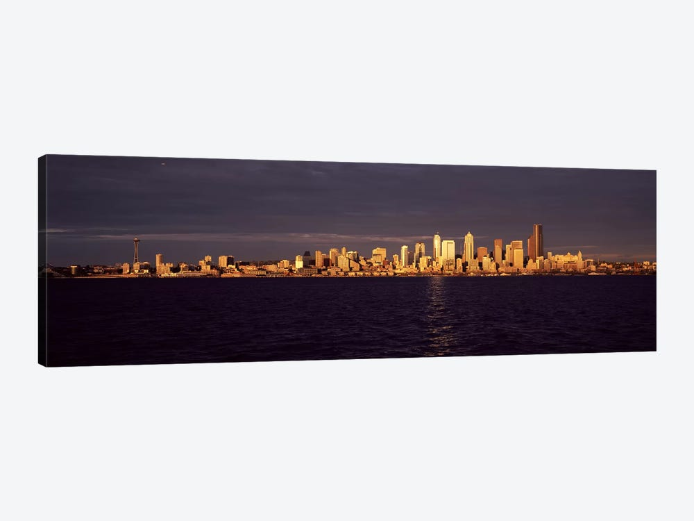 City viewed from Alki Beach, Seattle, King County, Washington State, USA by Panoramic Images 1-piece Canvas Print