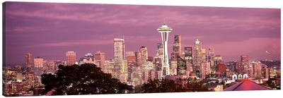 City viewed from Queen Anne Hill, Space Needle, Seattle, King County, Washington State, USA 2010 #5 Canvas Art Print