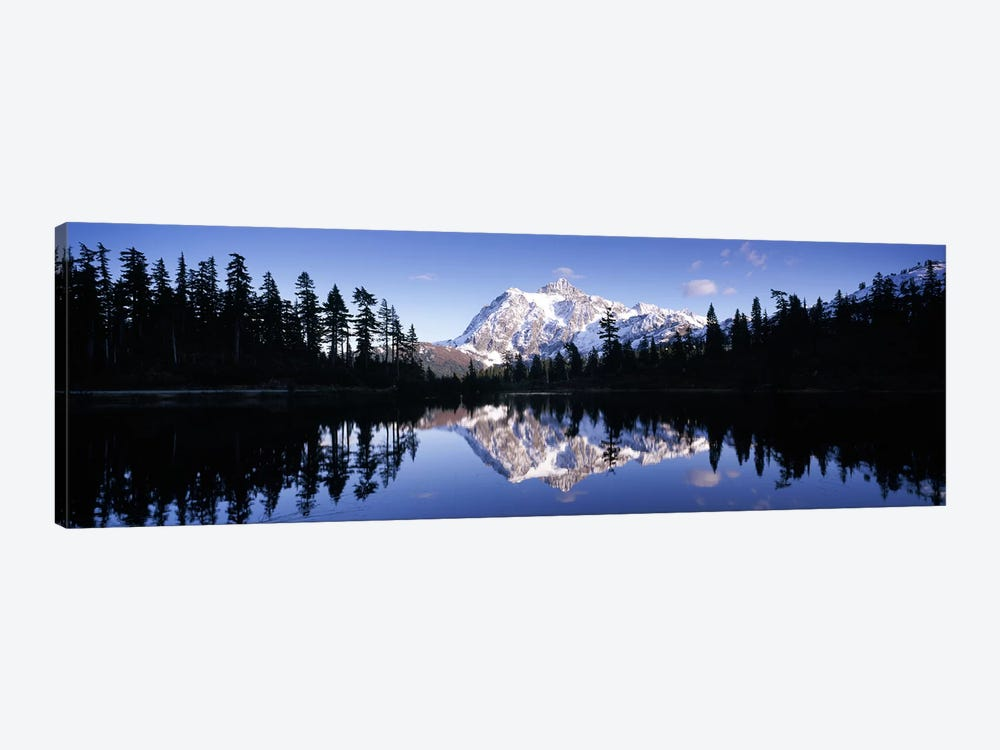 Reflection of mountains in a lake, Mt Shuksan, Picture Lake, North Cascades National Park, Washington State, USA #2 by Panoramic Images 1-piece Canvas Art