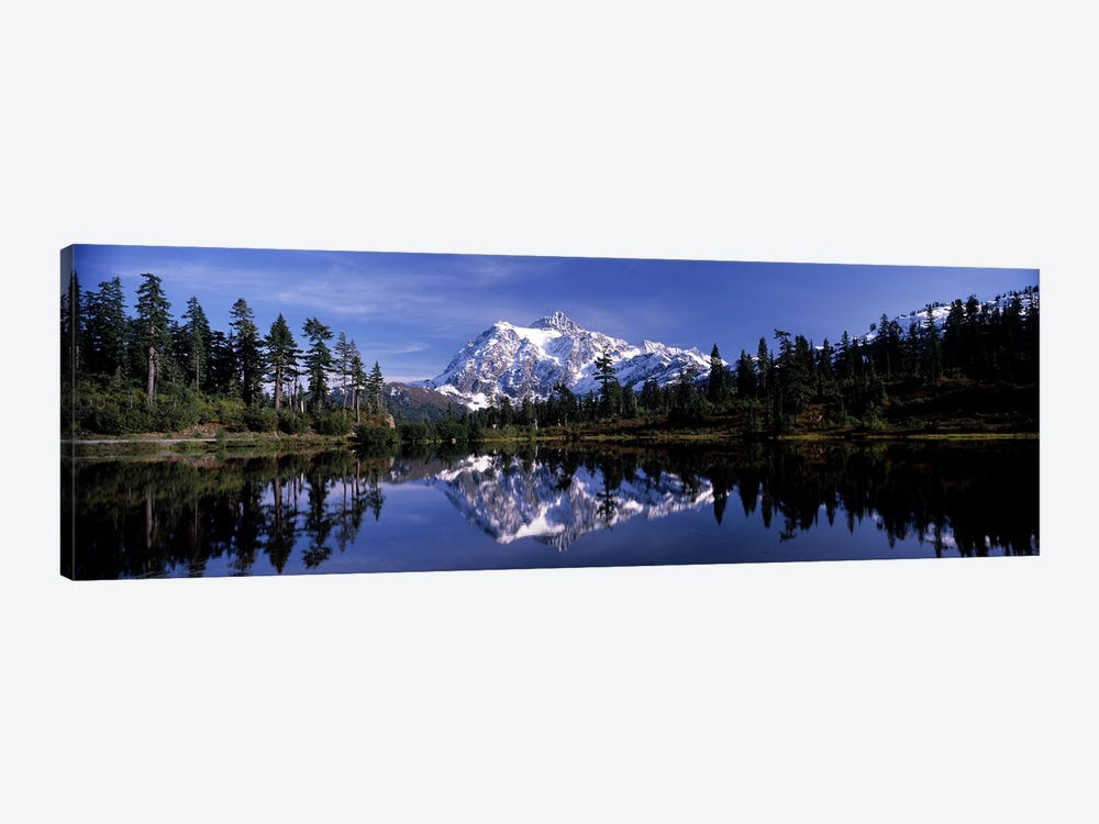 Reflection of mountains in a lake, Mt Shuksan, Picture Lake, North Cascades National Park, Washington State, USA #3 by Panoramic Images 1-piece Canvas Wall Art