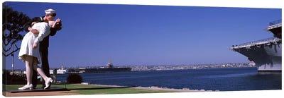 Embracing Peace Statue, Tuna Harbor Park, San Diego, California, USA Canvas Art Print
