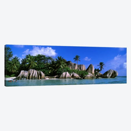 Granite Rock Formation Cluster, Anse Source d'Argent, La Digue, Seychelles Canvas Print #PIM815} by Panoramic Images Canvas Artwork