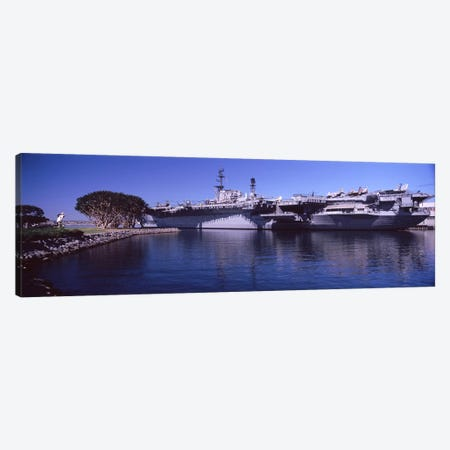 Aircraft carriers at a museum, San Diego Aircraft Carrier Museum, San Diego, California, USA Canvas Print #PIM8160} by Panoramic Images Canvas Art