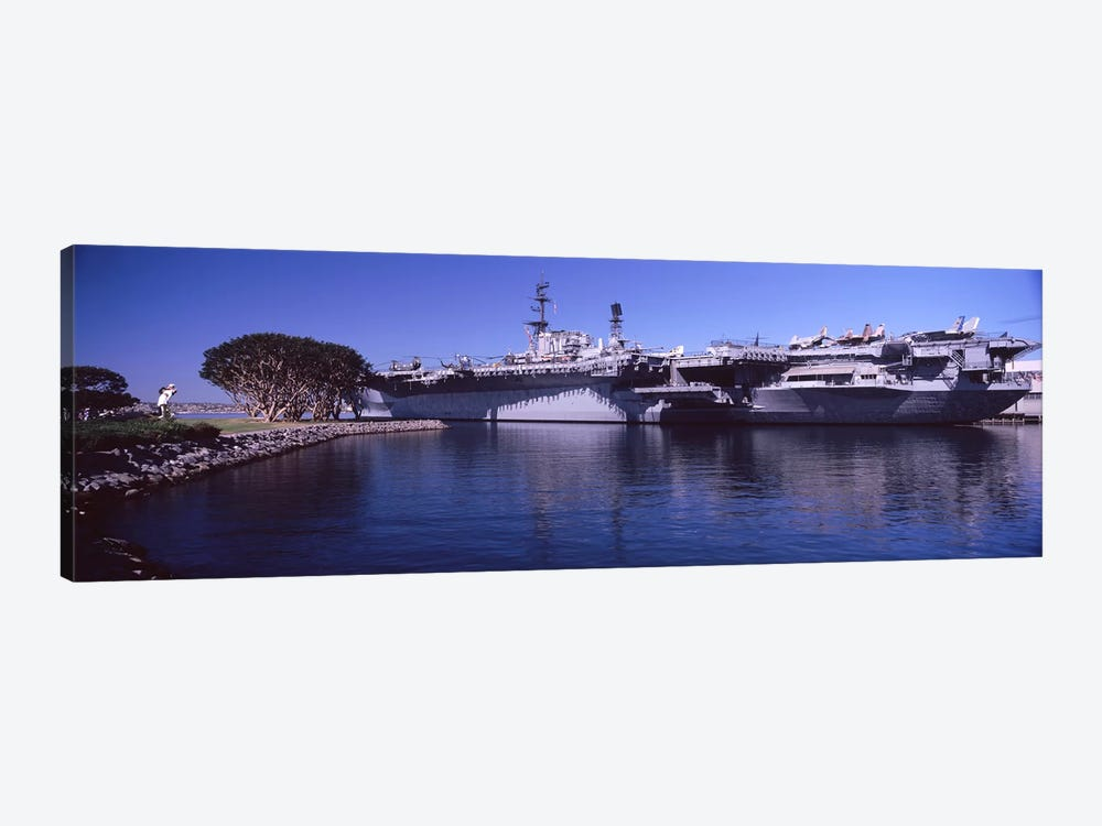 Aircraft carriers at a museum, San Diego Aircraft Carrier Museum, San Diego, California, USA by Panoramic Images 1-piece Canvas Artwork