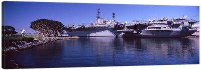 Aircraft carriers at a museum, San Diego Aircraft Carrier Museum, San Diego, California, USA Canvas Art Print
