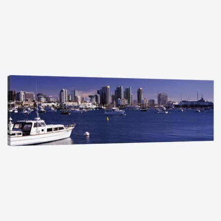 Buildings at the waterfront, San Diego, California, USA 2010 Canvas Print #PIM8161} by Panoramic Images Canvas Wall Art