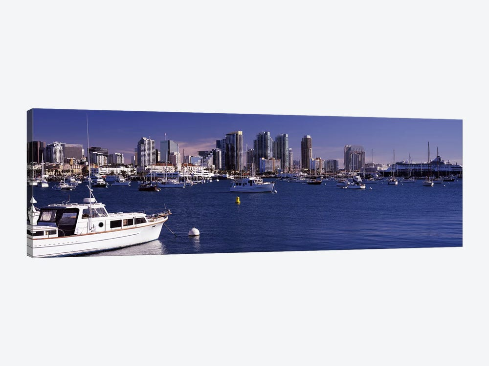 Buildings at the waterfront, San Diego, California, USA 2010 by Panoramic Images 1-piece Canvas Art Print