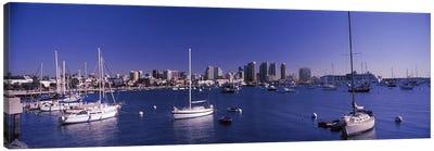 Sailboats in the bay, San Diego, California, USA 2010 Canvas Art Print