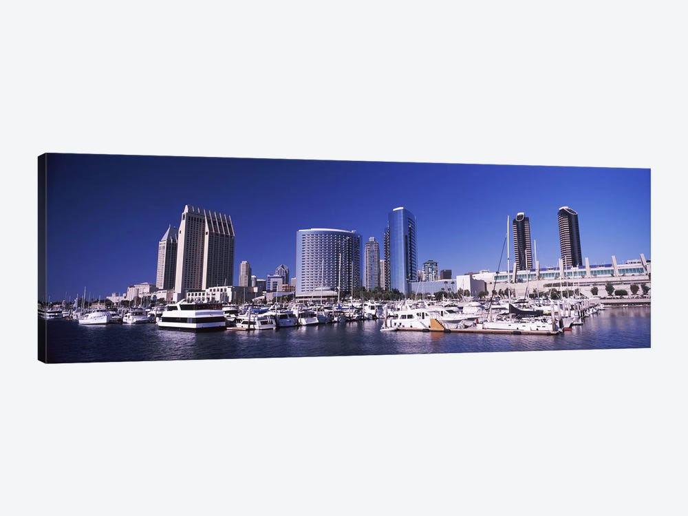 Boats at a harbor, San Diego, California, USA 2010 by Panoramic Images 1-piece Canvas Print