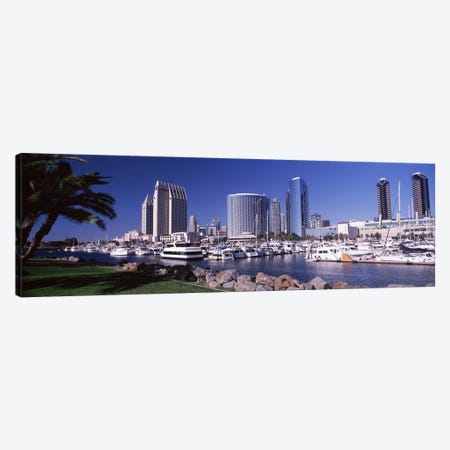 Boats at a harborSan Diego, California, USA Canvas Print #PIM8164} by Panoramic Images Canvas Print