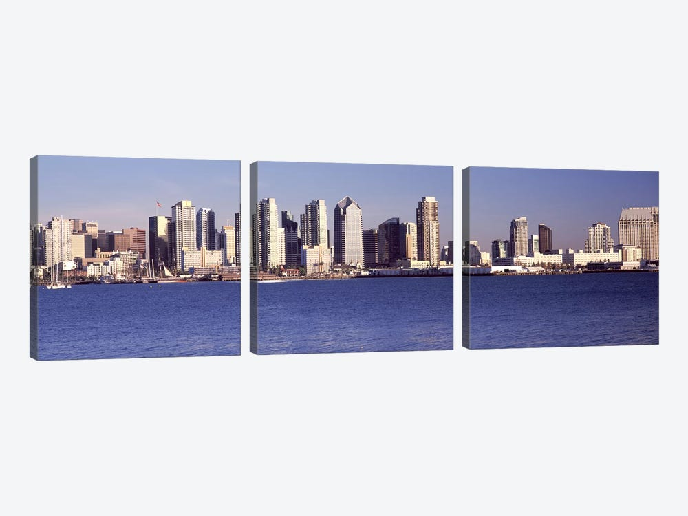 Buildings at the waterfront, San Diego, California, USA 2010 #2 by Panoramic Images 3-piece Canvas Print