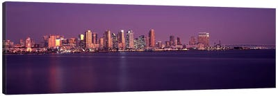 Buildings at the waterfront, San Diego, California, USA 2010 #3 Canvas Art Print