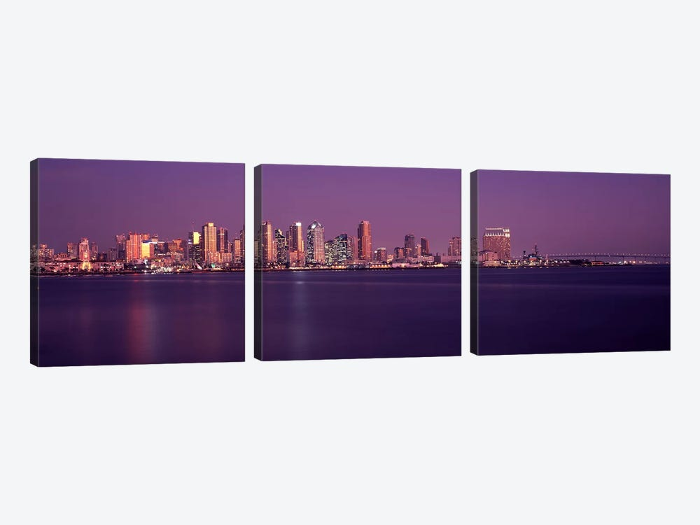 Buildings at the waterfront, San Diego, California, USA 2010 #3 by Panoramic Images 3-piece Canvas Artwork