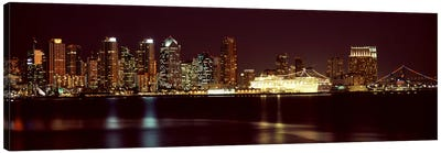 Buildings at the waterfront, San Diego, California, USA 2010 #4 Canvas Art Print