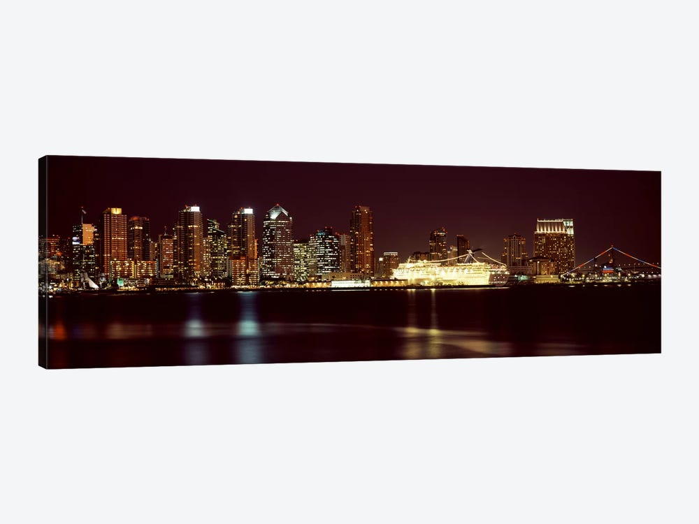 Buildings at the waterfront, San Diego, California, USA 2010 #4 by Panoramic Images 1-piece Canvas Print