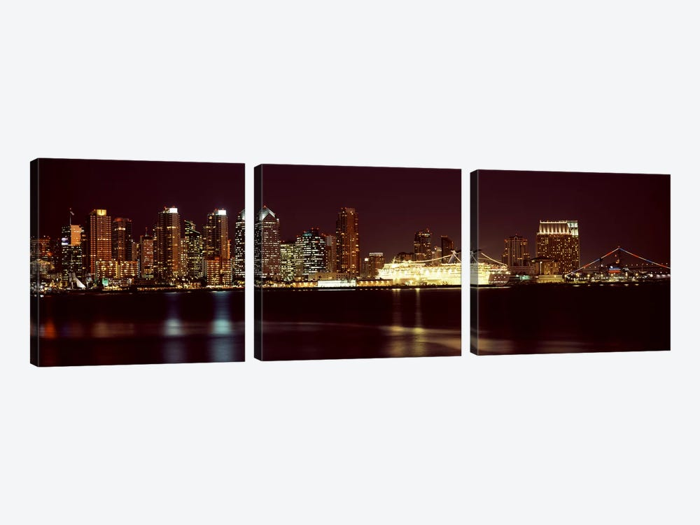 Buildings at the waterfront, San Diego, California, USA 2010 #4 by Panoramic Images 3-piece Canvas Print