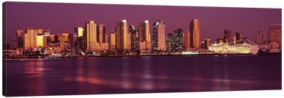 Buildings at the waterfront, San Diego, California, USA 2010 #5 Canvas Art Print